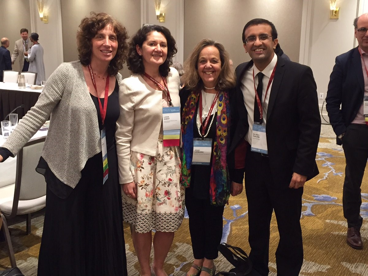 From right to left: Raj Panjabi, Joan Lombardi, Liana Ghent